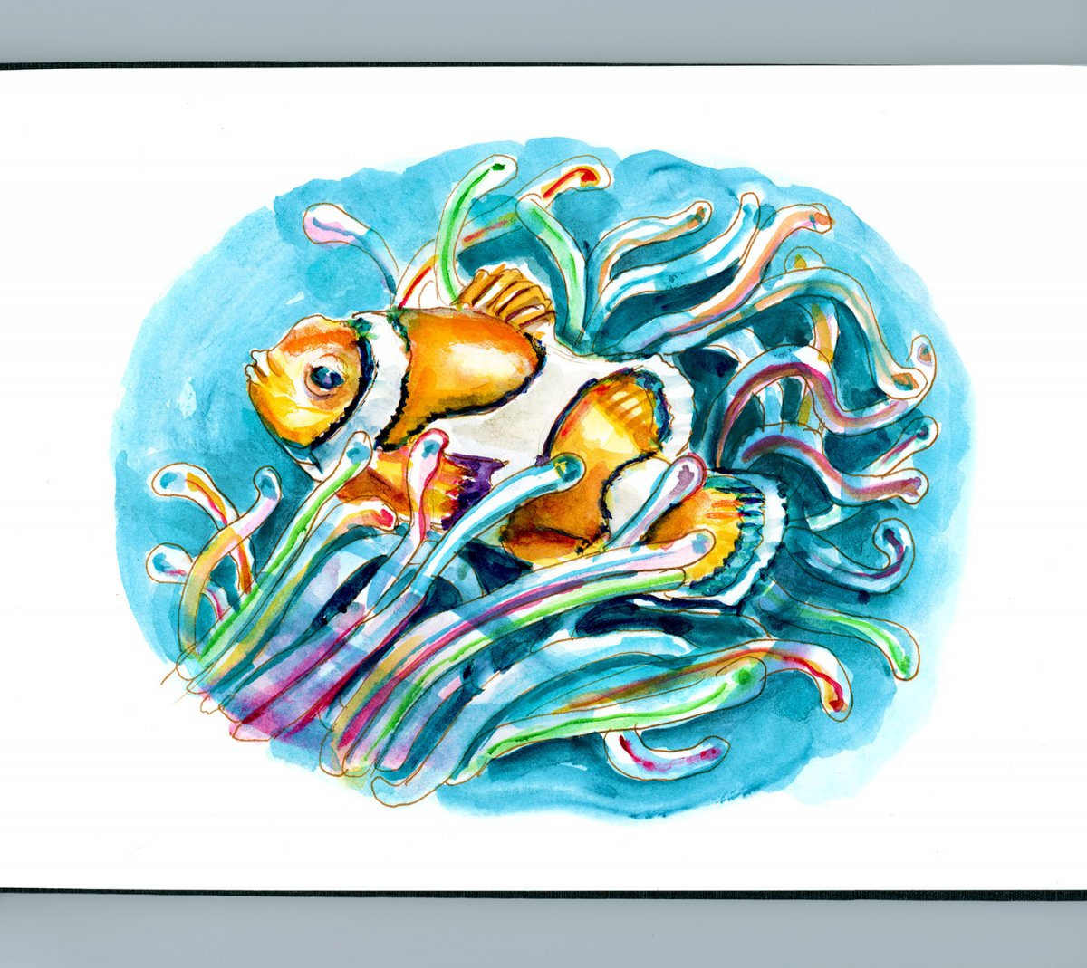 Day 22 - World Watercolor Month - Under The Sea - Doodlewash