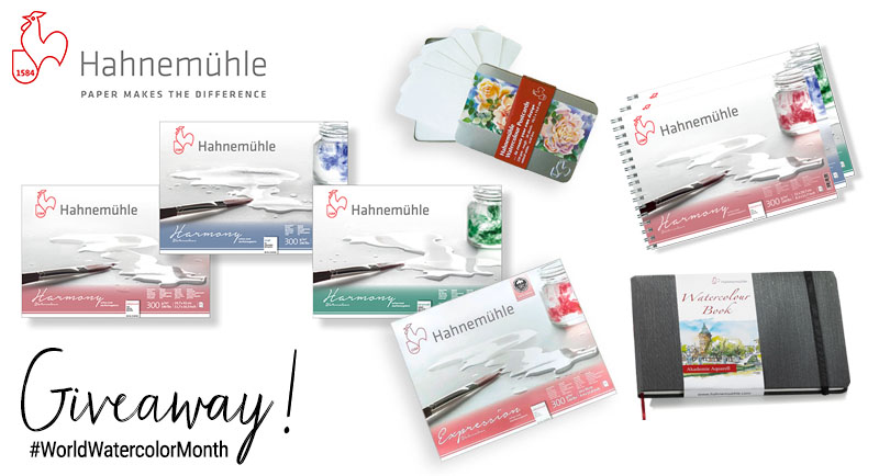 Hahnemühle World Watercolor Month 2018 Giveaway Sharing Graphic
