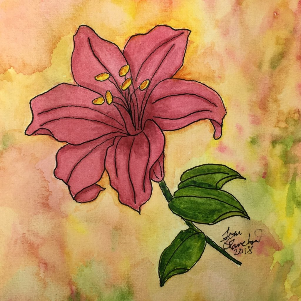 Day 11 of World Watercolor Month … Prompt – Beautiful Blooms #worldwatercolormonth #worldwat