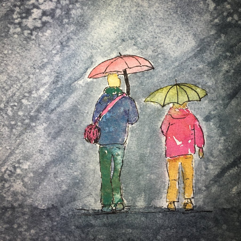 Day 19 of World Watercolor Month … Prompt – Rainy Days. This didn't quite turn out as I ha