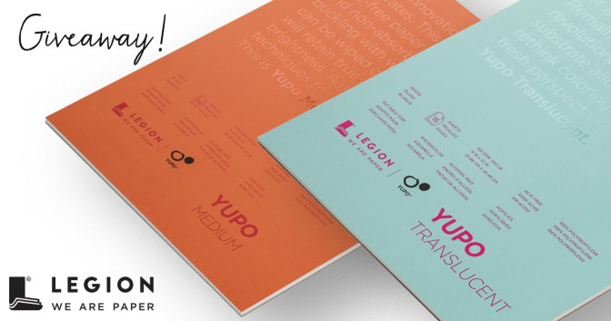 Legion Paper Yupo Medium & Translucent Pads Giveaway