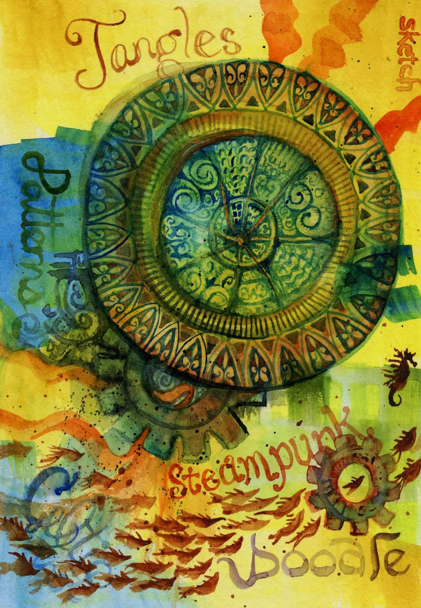 Tangles Steampunk Example Sandra Strait - Doodlewash