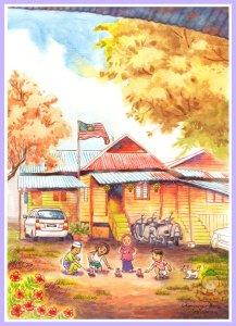 Kampung Baru .. Malay Village .. Ori Kampung Baru 300Dpi BnC 33% Frame Blog