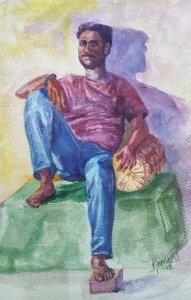 Portrait Study-Watercolor on HM paper Portrait Study-Watercolor on HM paper