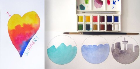 Watercolor Projects For Kids - Doodlewash