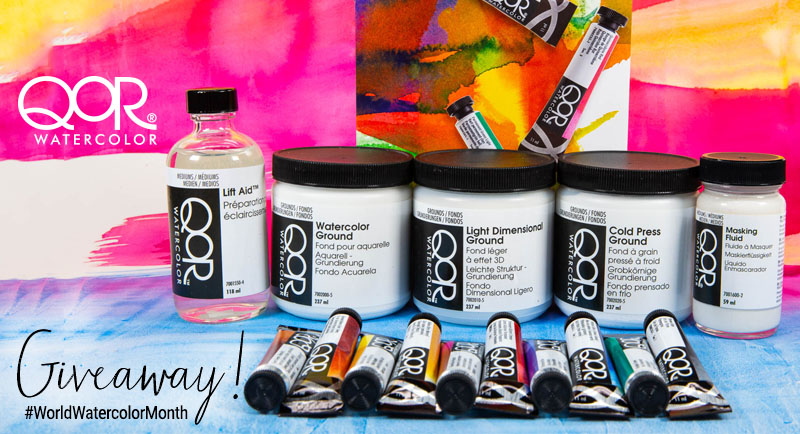 QoR Watercolor World Watercolor Month Giveaway