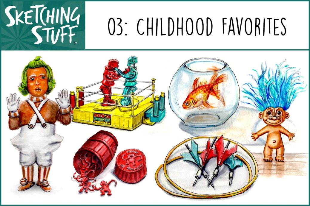 Sketching Stuff Podcast Episode 3 Artwork Childhood Favorites