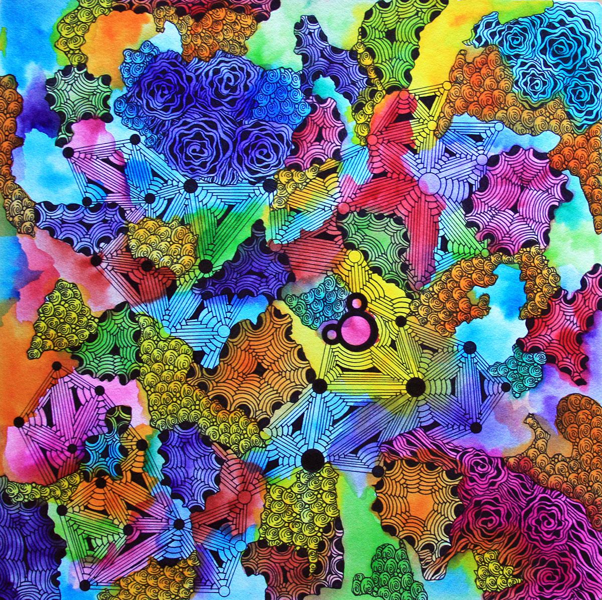 Watercolor Zentangle - Alice Hendon - Doodlewash