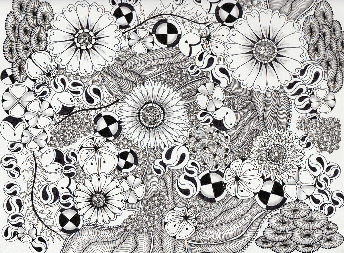 Zentangle - Tangle Art by Alice Hendon - Doodlewash