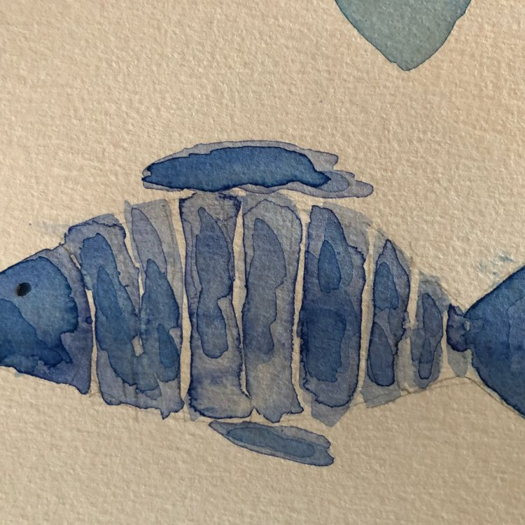 #worldwatercolormonth Day 6 – shades of blue day 6
