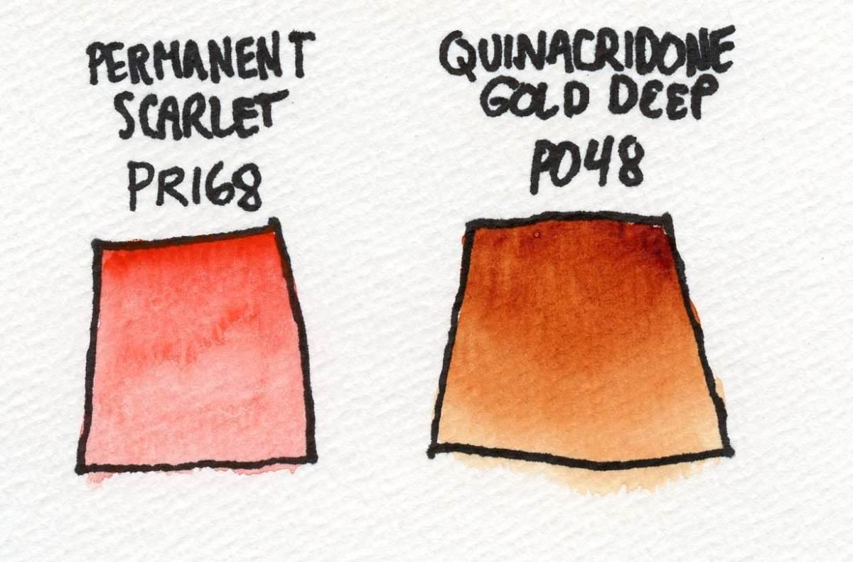 QoR Watercolor Permanent Scarlet Example