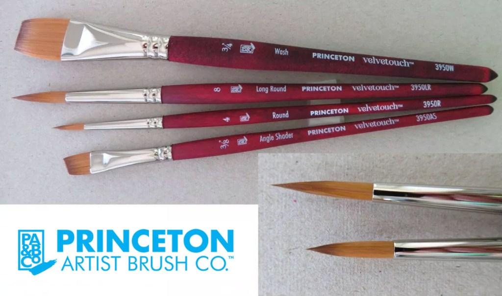 Princeton Velvetouch – Series 3950 brushes - Doodlewash