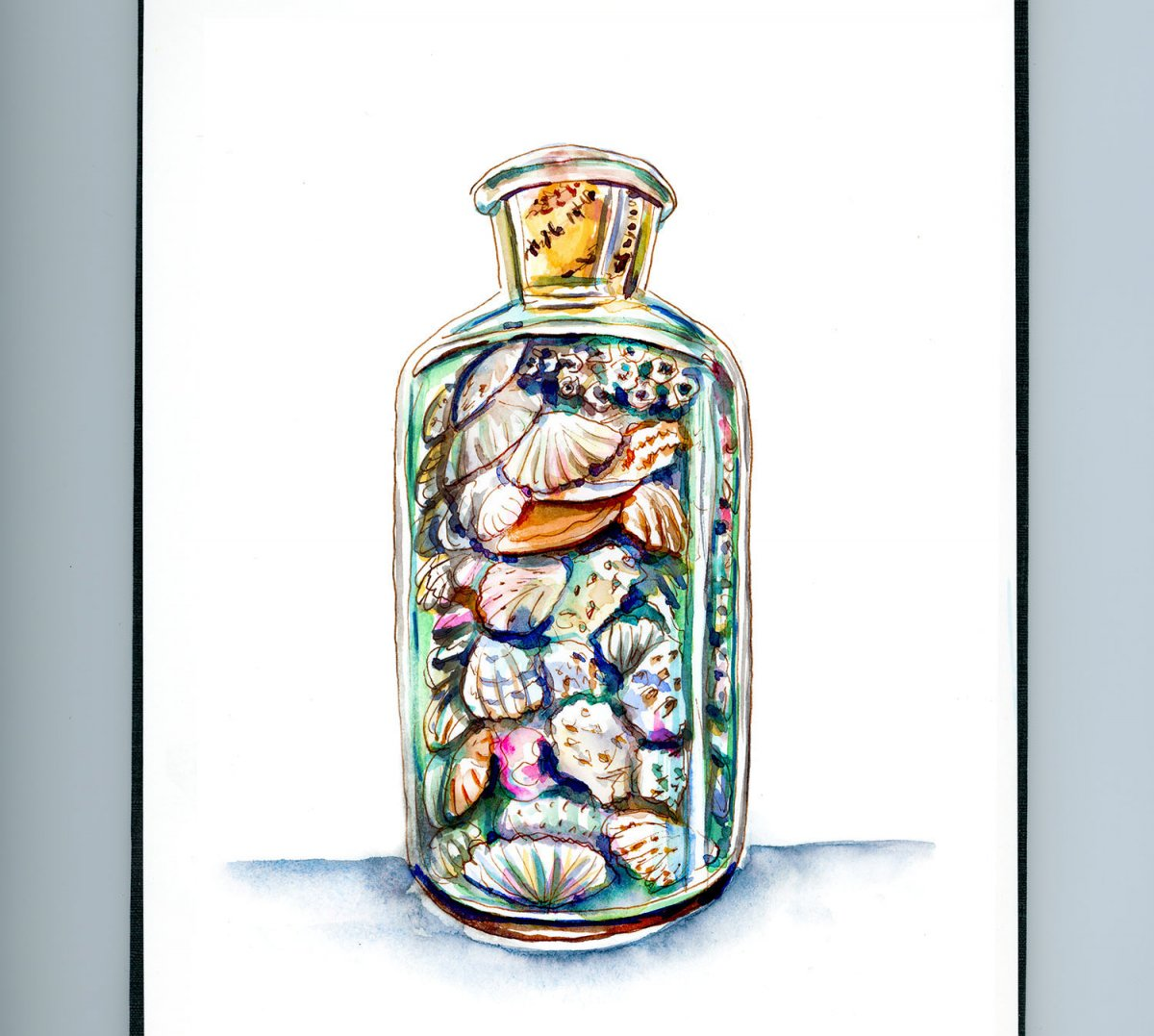 Day 6 - Seashells In A Bottle_IG - Doodlewash