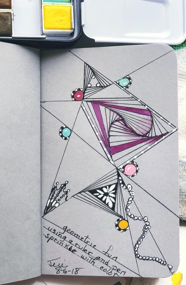 Still playing in my Stillman&birn gray-toned sketchbook. This time it's a zentangle with ink a