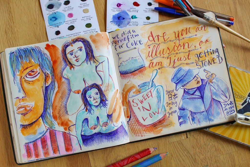 Testing out new colors and illustrating lyrics – can you guess the song? E9CB3351-3EA9-4AE6-83