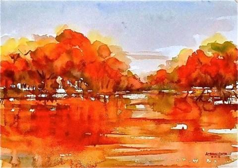 Watercolor Painting by Ambbali Dutta - Doodlewash