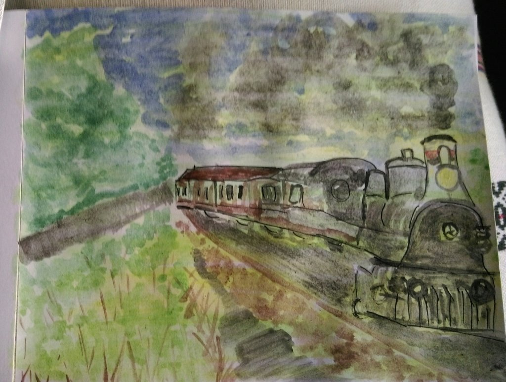 The challenge for day 27 – trains. I tried to find a picture of the steam locomotive I rode on