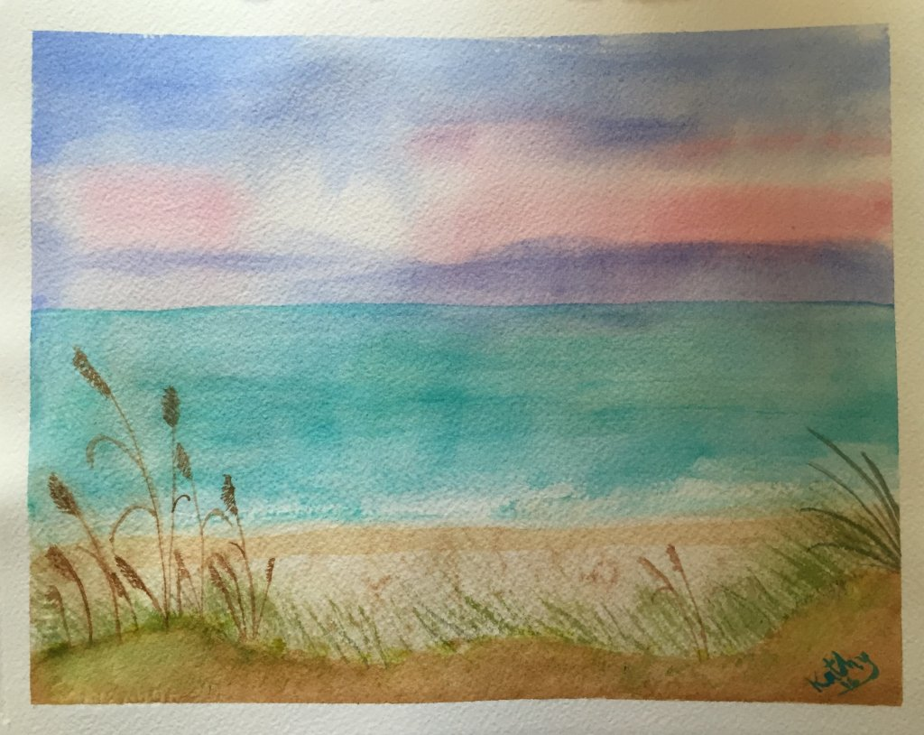 My very first watercolor. I can see lots of things I could change, but I am leaving it alone! IMG_05
