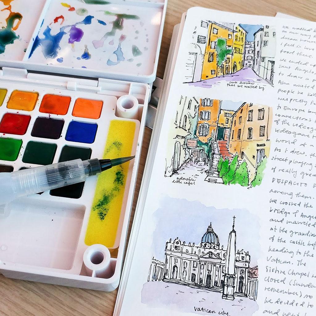 Watercolor Journal by Cecile Lu - Doodlewash
