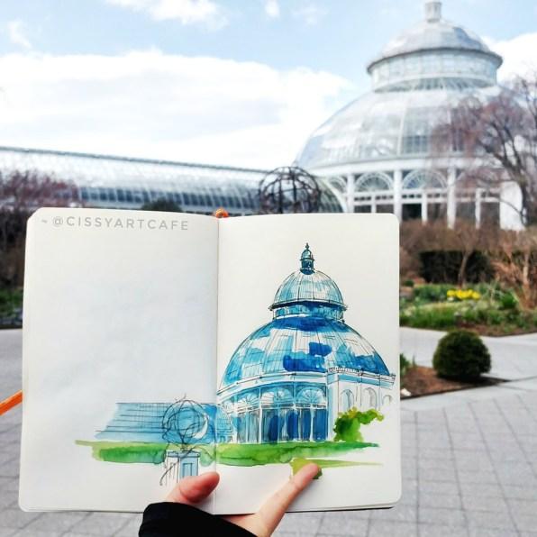 Watercolor Urban Sketching by Cecile Lu - Doodlewash