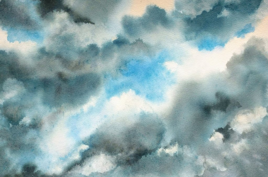 Atmospheric Landscapes With Birgit O'Connor class example values when painting clouds