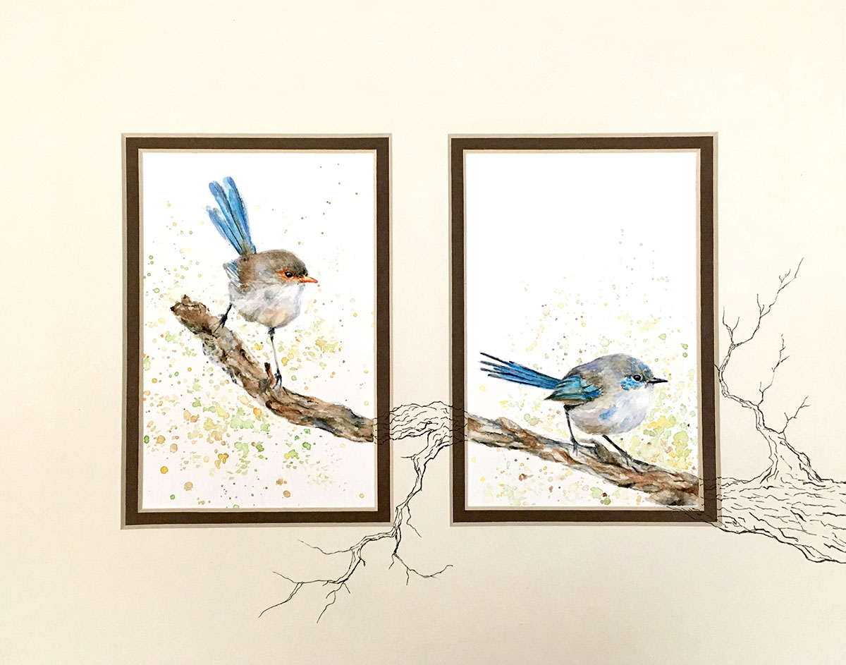 Birds Watercolor Painting by Kate Plum - Doodlewash