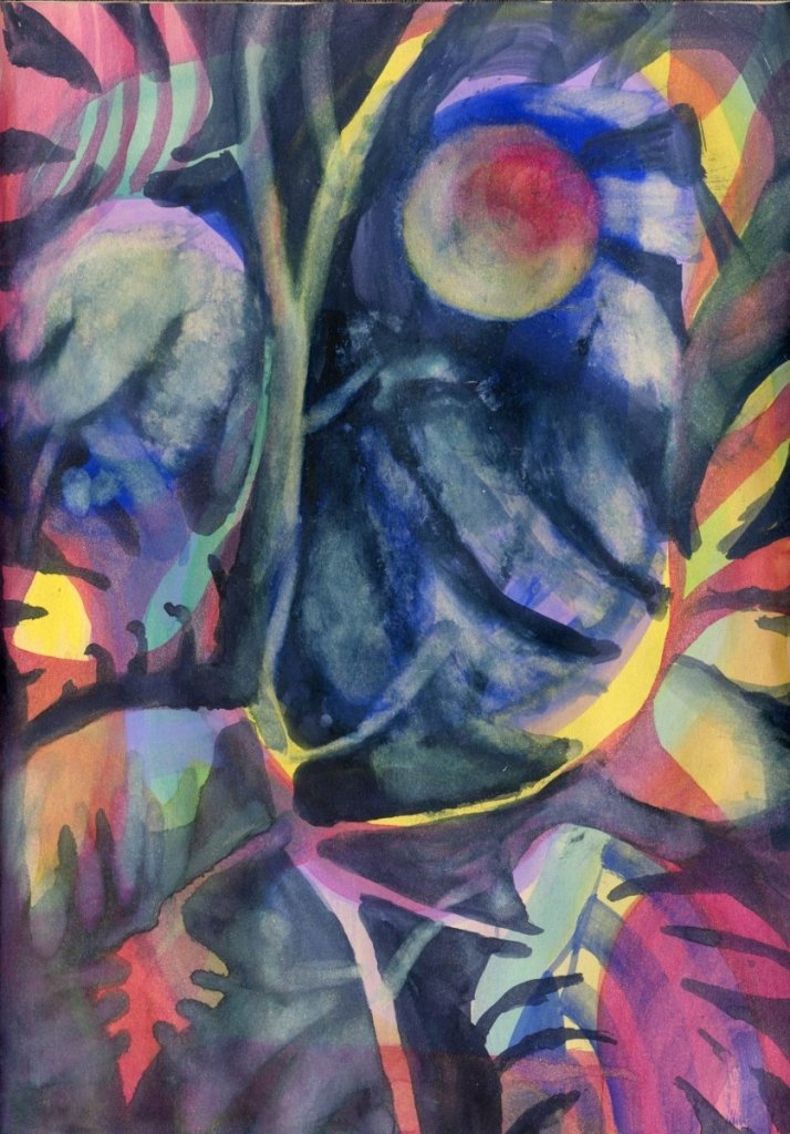 Mango Moon #Hahnemühle_USA, #Aquanut, #WorldWatercolorGroup Mango Moon-Aquanut Watercolor in Hahnem