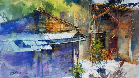 Watercolor Painting by Chang Hong Bin - Doodlewash