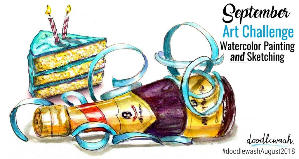 Art Challenge September 2018 Days To Celebrate - Doodlewash