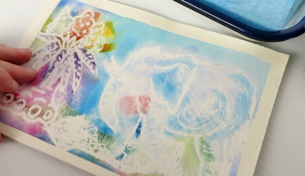 Adapting a Damaging Painting Watercolor by Sandra Strait - Doodlewash