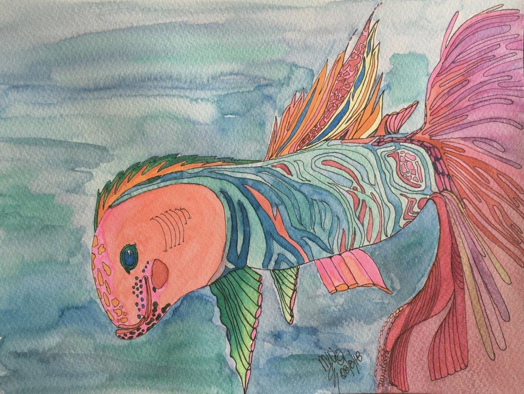 Day 28 Ocean Creatures My crazy fish fullsizeoutput_41e