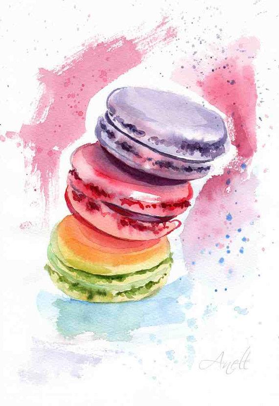 – #21Day #AquarelleDeMacarons #DessertsAndTreat #WorldWaterColorMonth #DoodleWashAugust2018 il