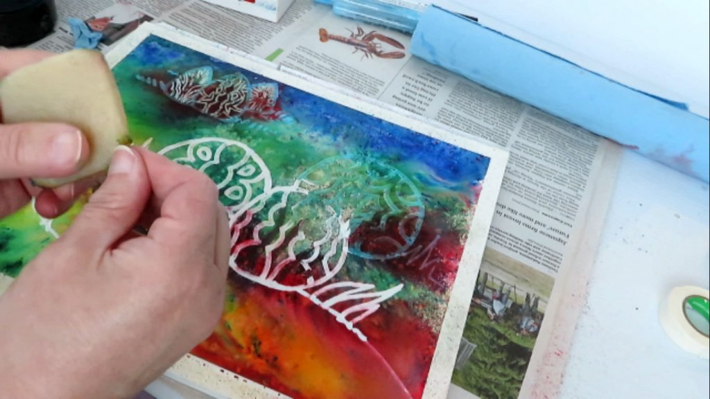 Removing Masking Fluid in Watercolor Painting - Eraser - Doodlewash