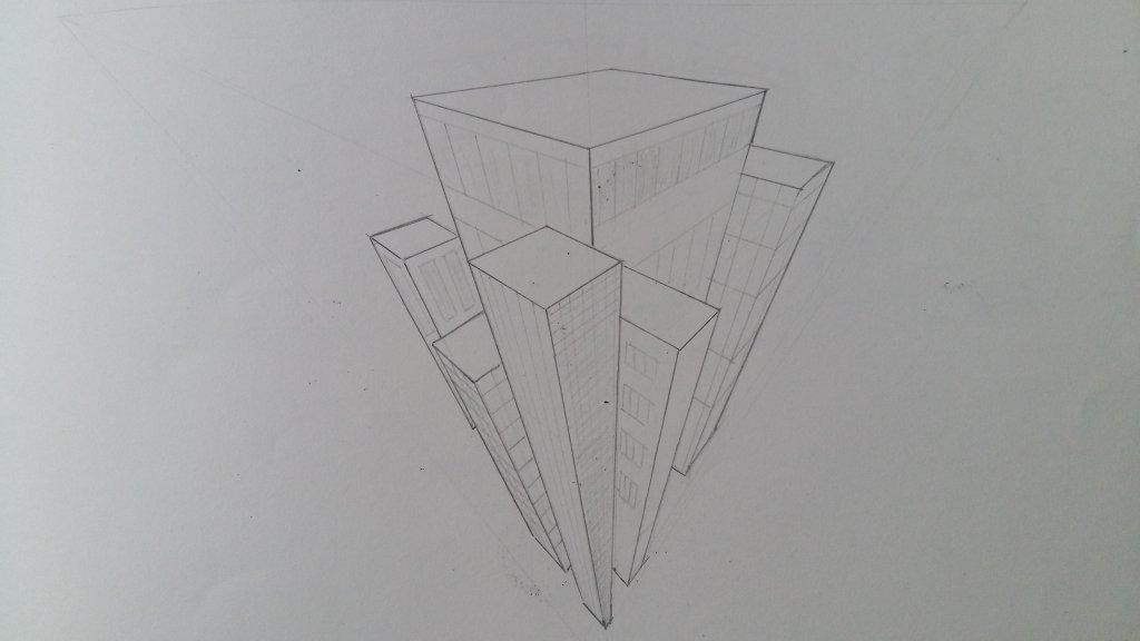 #doodlewashSeptember2018#SkyscraperDay#Skyscrapers#Buildings#ThreePointPerspective 20180903_165027