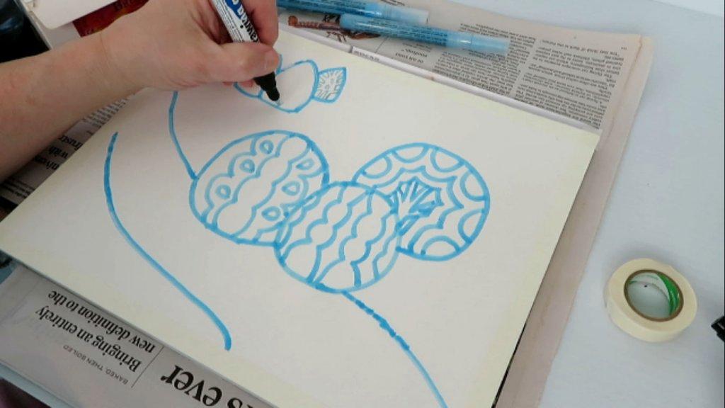 Using Masking Fluid on Watercolor Paper - Batik Drawing - Doodlewash