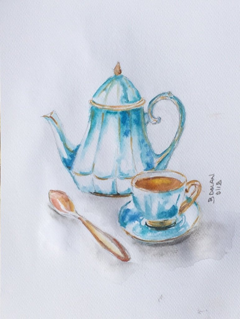I Love my cups of tea. Hence I chose a pot of tea for 'invent your own day' prompt. B1198F92-EFF