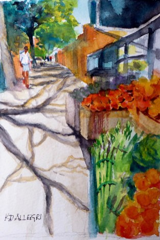 Watercolor Painting by Kathy Delumpa Allegri - Doodlewash