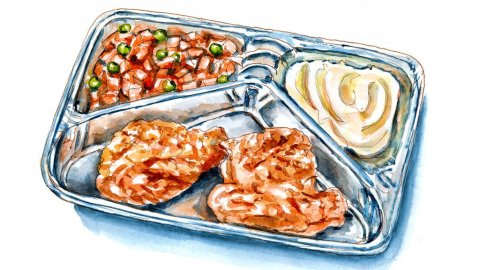 Day 10 - TV Dinner Day Watercolor Illustration - Doodlewash