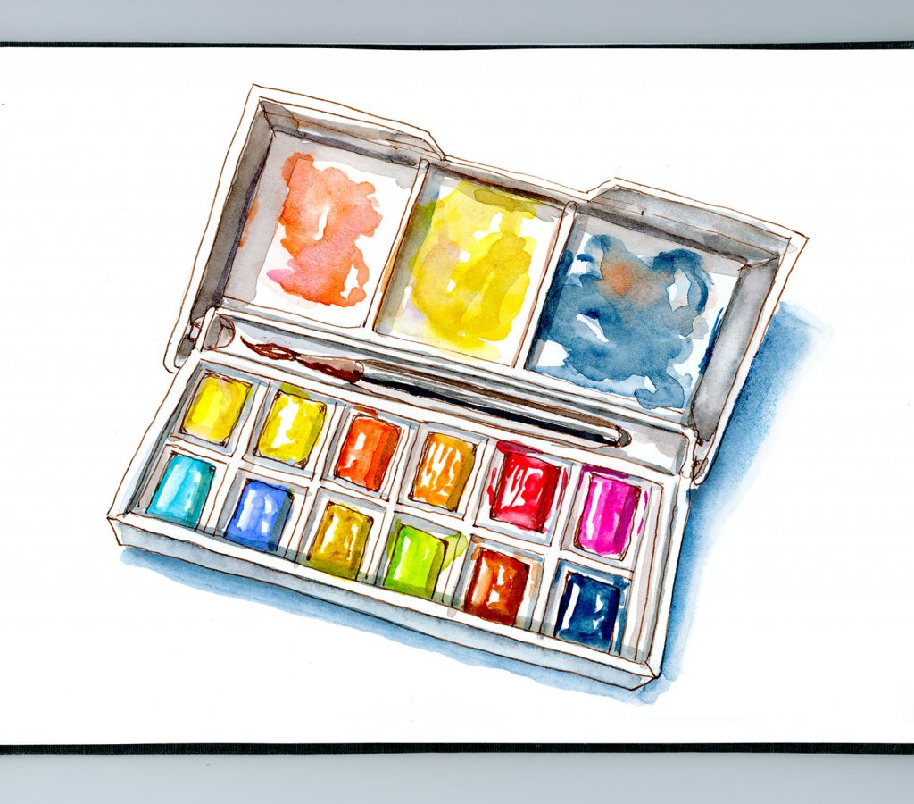 Day 25 - World Dream Day Watercolor Paint Palette - Doodlewash