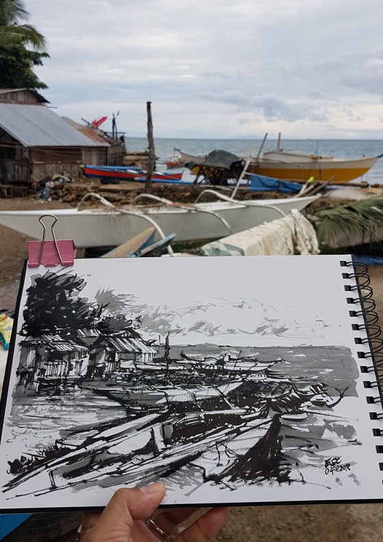 Urban Sketch by Aliver Escano - Doodlewash