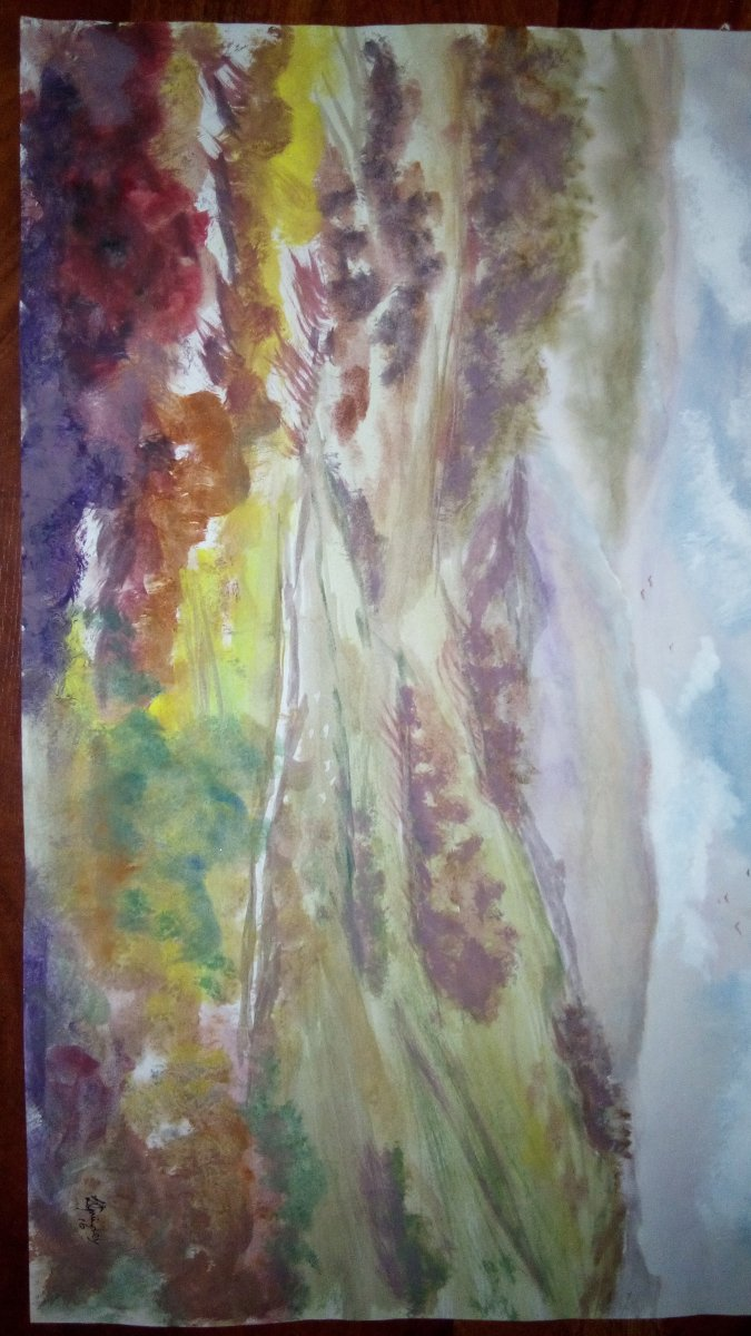 Watercolor wash mixed color s to keep them clean sharp IMG_20180904_232209