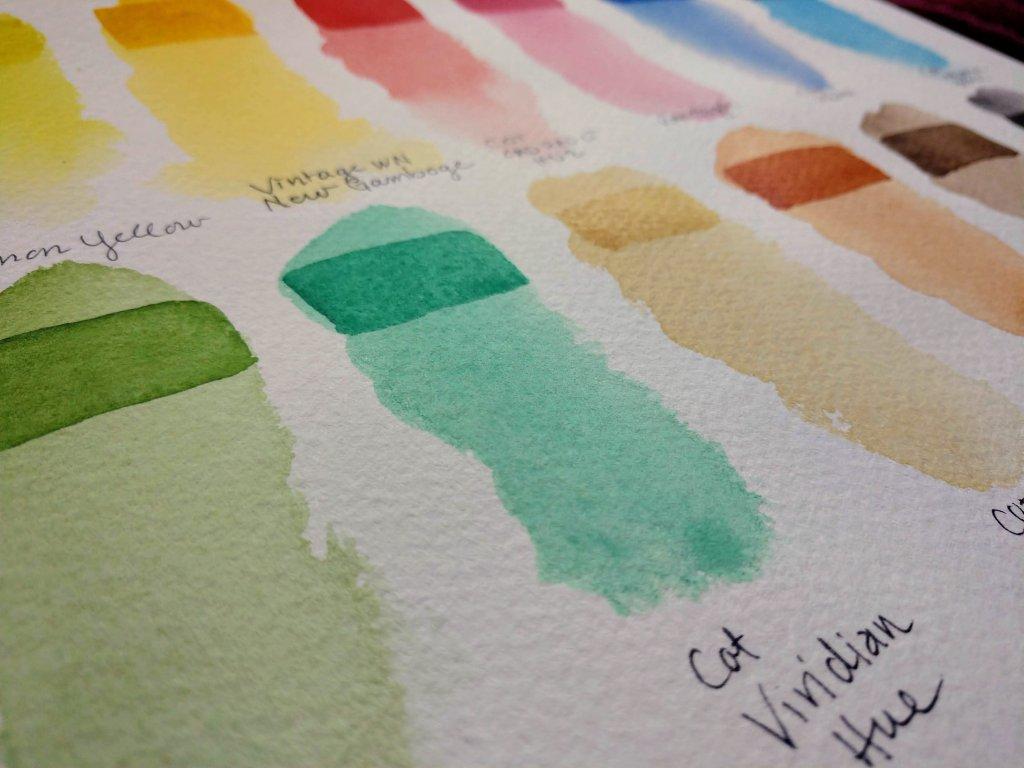 Pink Pig Watercolor Sketchbooks Swatch Example