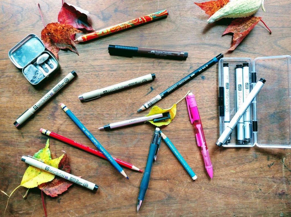 Inktober 2018 Day 1 - Technical Pens - Doodlewash