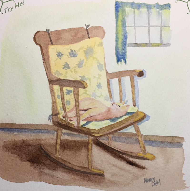 Hi All, I've been doing some different media and just a few watercolor sketches lately. I fini