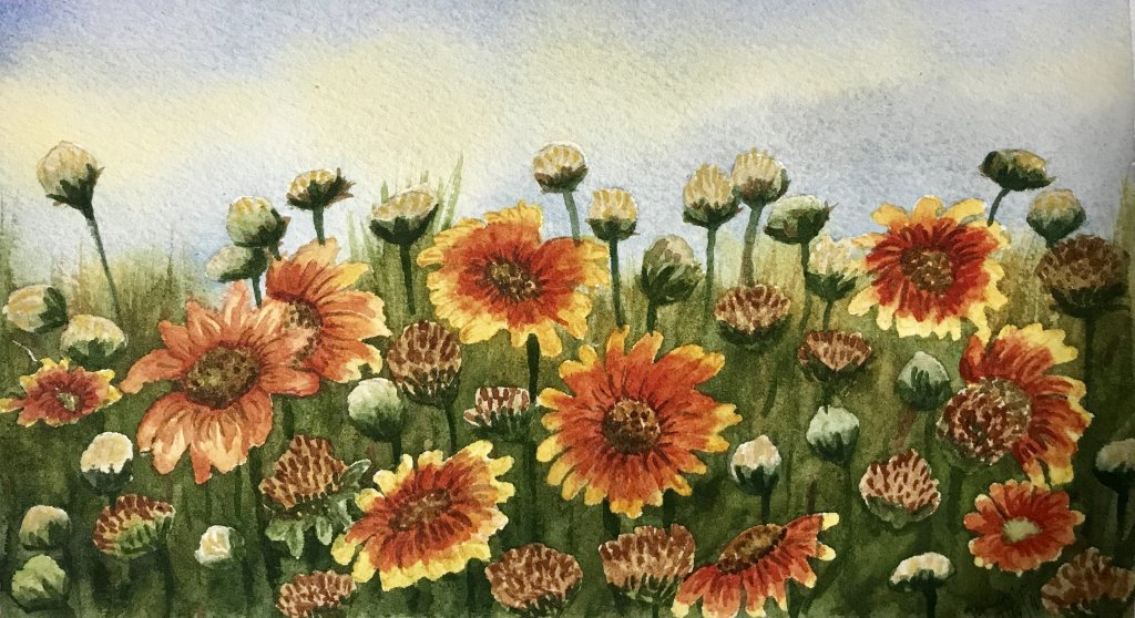 """Morning in the Orient""… Daniel Smith Watercolors on Arches Journal…5.5&#824"