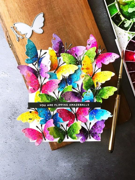 Butterflies Watercolor by Rubeena Ianigro - Doodlewash