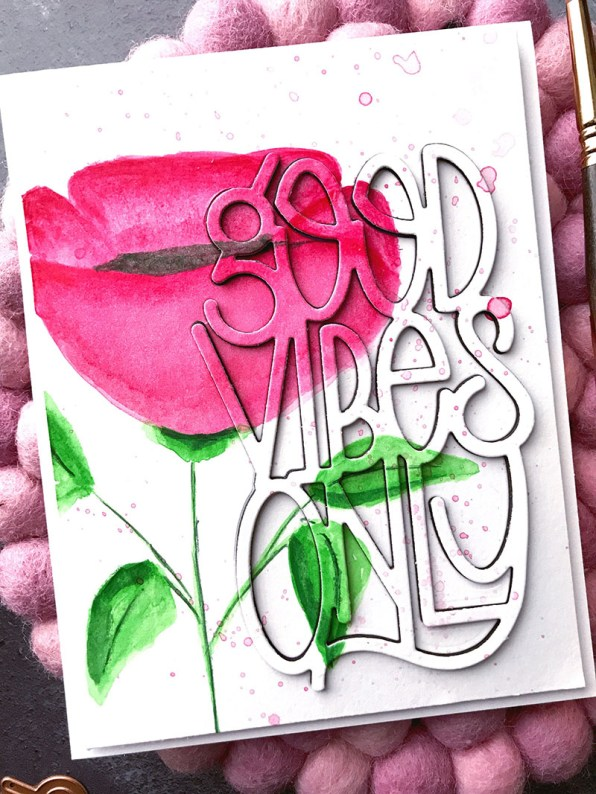 Good Vibes Only Watercolor by Rubeena Ianigro - Doodlewash