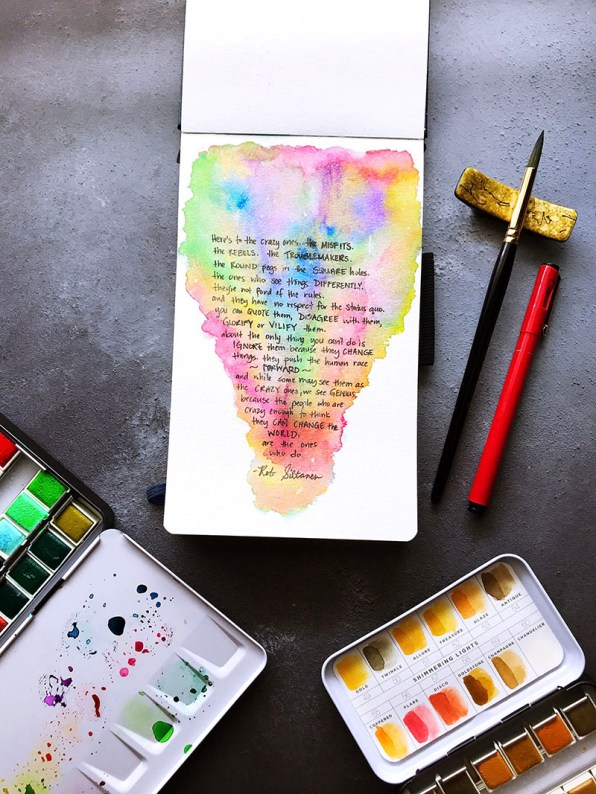 Here's To The Misfits Watercolor by Rubeena Ianigro - Doodlewash