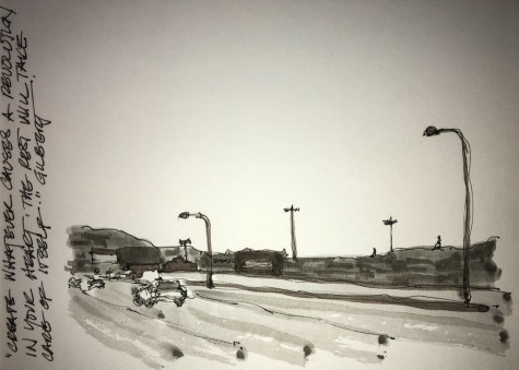 Posting from a month ago… glad the smoke days are over. Grisaille using Lexington ink below th