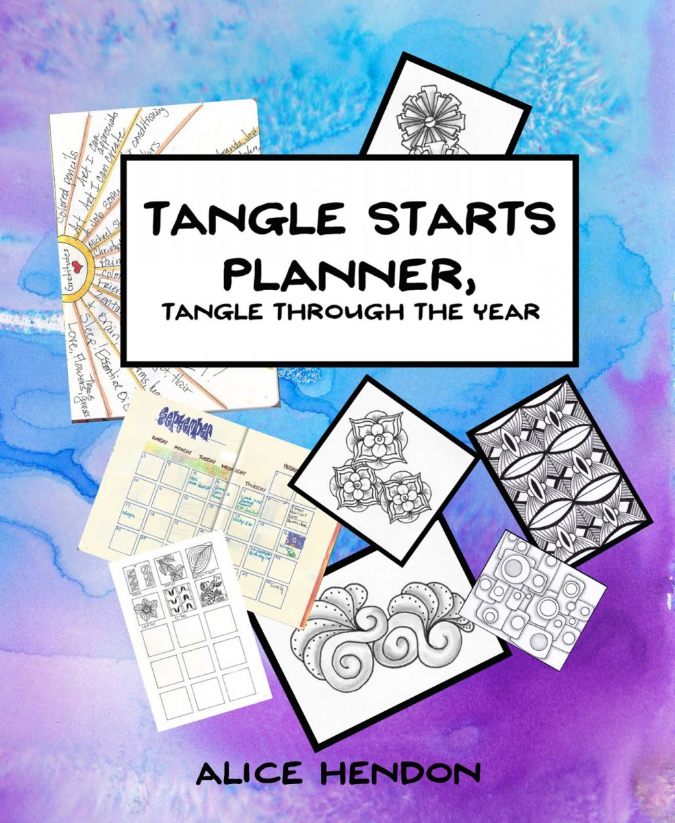Tangle Starts Planner - Tangle Through the Year Cover - Alice Hendon - Doodlewash